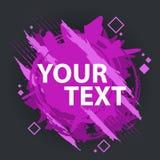 Grungefärgstänkbaner Kan användas som en vykort Färgstänkbaner Vektorn plaskar etiketter med utrymme för text Royaltyfri Bild