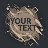 Grungefärgstänkbaner Kan användas som en vykort Färgstänkbaner Vektorn plaskar etiketter med utrymme för text Arkivbild