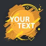 Grungefärgstänkbaner Kan användas som en vykort Färgstänkbaner Vektorn plaskar etiketter med utrymme för text Arkivfoto