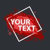 Grungefärgstänkbaner Vektorn plaskar etiketter med utrymme för text Grunge etikett Royaltyfri Bild
