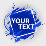 Grungefärgstänkbaner Vektorn plaskar etiketter med utrymme för text Grunge etikett Arkivfoto