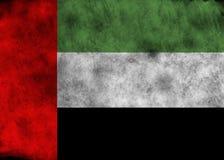 GrungeFörenade Arabemiraten flagga Arkivbild