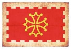 Grungeflagga av Aude France Royaltyfria Foton