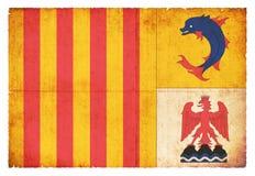 Grungeflagga av Provence-Alpes-skjul D ` Azur France Arkivbilder