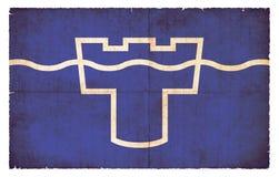 Grungeflagga av Tyne och kläderrådet Storbritannien Royaltyfri Fotografi
