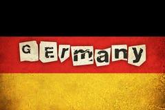 Grungeflagga av Tyskland med text Fotografering för Bildbyråer
