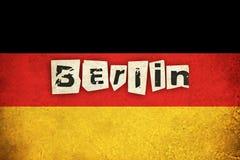 Grungeflagga av Tyskland med text Royaltyfri Foto
