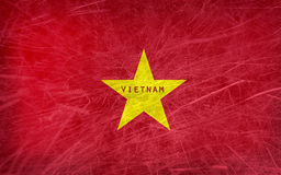 Grungeflagga av Vietnam stock illustrationer