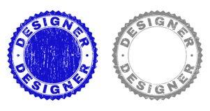 GrungeFORMGIVARE Scratched Watermarks vektor illustrationer