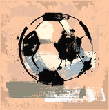 Grungefotboll klumpa ihop sig Arkivfoton