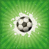 Grungefotbollbakgrund Royaltyfri Foto