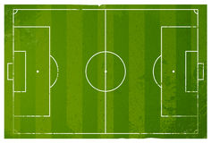 Grungefotbollspelplan royaltyfri illustrationer