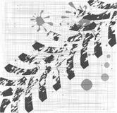 Grungegummihjulfläckar Arkivfoto