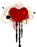 grungehjärta vektor illustrationer