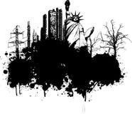 grungeillustration Fotografering för Bildbyråer