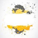 Grungeinkblots plaskar design Royaltyfria Bilder
