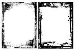 Grungekaders op wit worden geïsoleerd dat Stock Fotografie