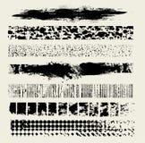 grungelinje vektor för 7 borstar Arkivbilder