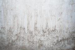 Grungeljus - grå textur av en gammal vägg med svartskilsmässor, vit yttersida med fläckar, abstrakt bakgrund Royaltyfri Foto