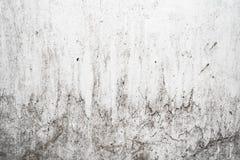 Grungeljus - grå textur av en gammal vägg med svartskilsmässor, vit yttersida med fläckar, abstrakt bakgrund Arkivfoton