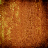 Grungemetallrost och orange textur för halloween bakgrund Arkivbild