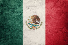 GrungeMexico flagga Mexicansk flagga med grungetextur Royaltyfri Foto