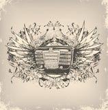 grungemusikaffisch Royaltyfri Fotografi