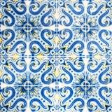 Grungemuur Art Texture/Traditionele overladen Portugese decorati Royalty-vrije Stock Foto