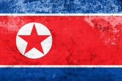 GrungeNordkorea flagga Royaltyfri Fotografi