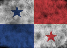 GrungePanama flagga Royaltyfri Bild