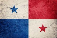 GrungePanama flagga Panama flagga med grungetextur Arkivbilder