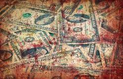 Grungepengarbakgrund Fotografering för Bildbyråer