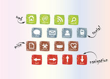 Grungepictogrammen Stock Foto's