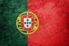 GrungePortugal flagga Portugal flagga med grungetextur Royaltyfri Bild