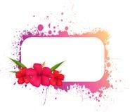 Grungeram med blommor Royaltyfri Fotografi
