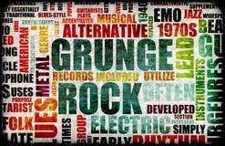grungerock royaltyfri illustrationer