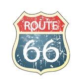 Grungeroute 66 roadsign stock illustratie
