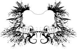 grungescroll Arkivbild