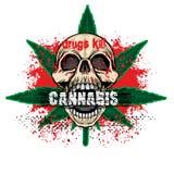 grungeskallevapensköld stock illustrationer