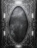 Grungesvartram Royaltyfria Bilder