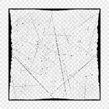 Grungesvarttextur med ramen med möjlighet av samkopieringen på genomskinlig bakgrund Nödlägetextur för din design vektor royaltyfri illustrationer