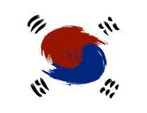 GrungeSydkorea flagga Royaltyfria Bilder