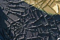 Grungetappningtextur eller bakgrundssvart och guling färgar Arkivbild