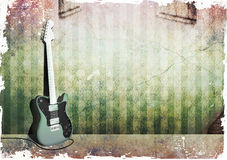 grungetelecaster Royaltyfri Bild