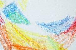 Grungetextur av pastellfärgade slaglängder Färgpennor gör sammandrag grungebakgrund Fotografering för Bildbyråer