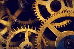 Grungetoestel, de achtergrond van radertjewielen Industriële wetenschap Stock Foto