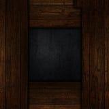 Grungeträ- och metallbakgrund Arkivfoto