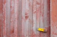 Grungeträdörr med delvist kasserad målarfärg Arkivfoton