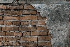 Grungevägg av den gamla gamla väggen för hus-/bakgrundstextur Arkivfoto