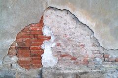 Grungevägg av det gamla huset texturerad bakgrund Royaltyfri Fotografi